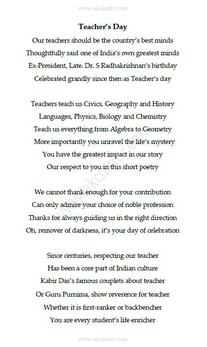 Teacher's Day - A Poem by Anoop Kumar V K