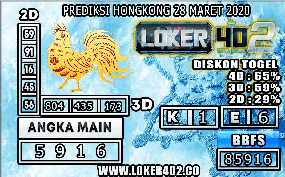 PREDIKSI TOGEL HONGKONG LOKER4D2 28 MARET 2020