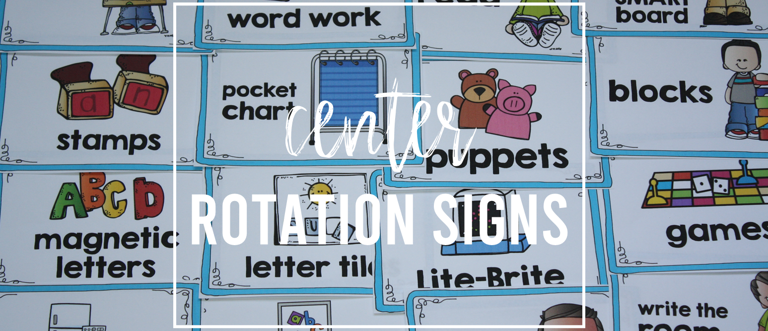 Center signs and labels for center rotation board