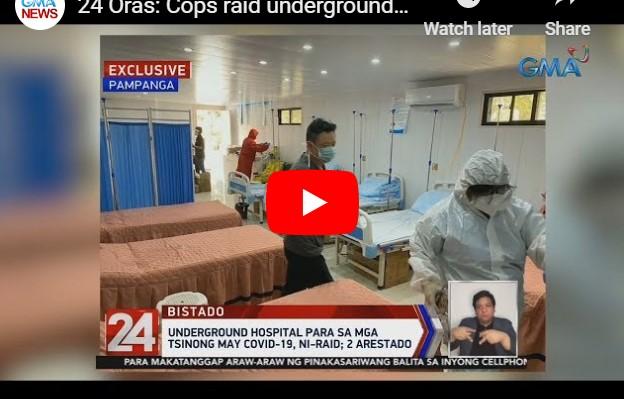Sekretong Ospital ng mga Chinese na Positibo sa COVID-19 sa Pampanga