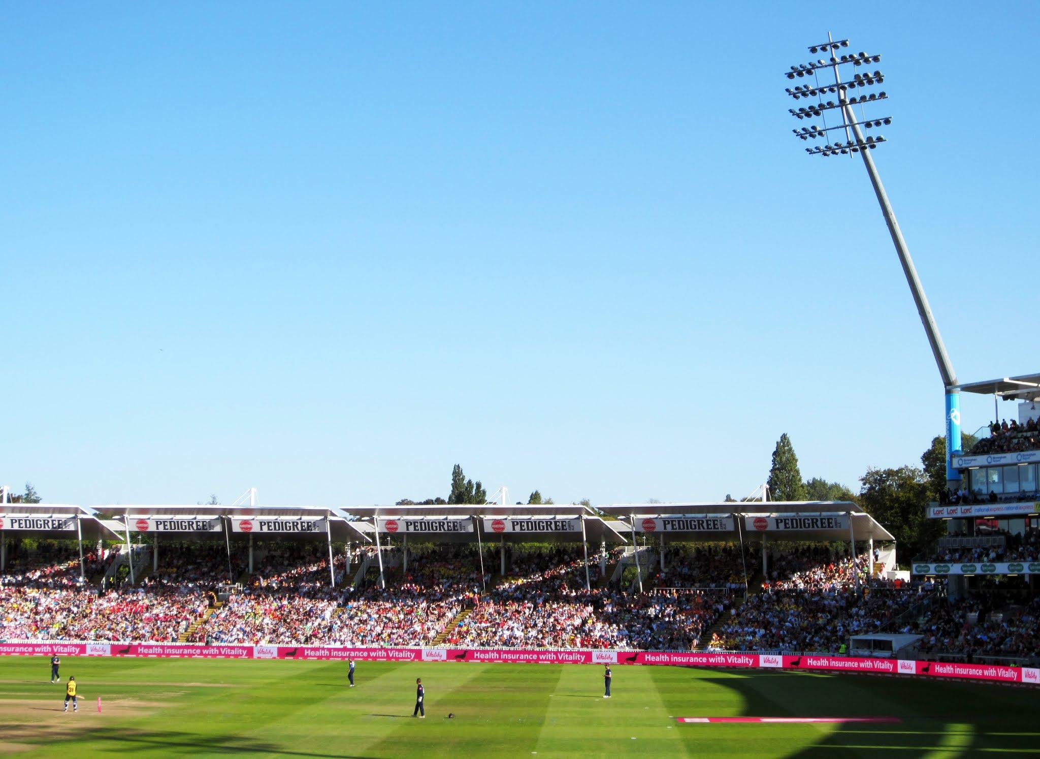 Eric Hollies Stand at Edgbaston Stadium