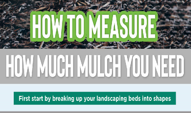 How to Measure How Much Mulch You Need #infographic