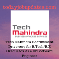Tech Mahindra Recruitment Drive 2019