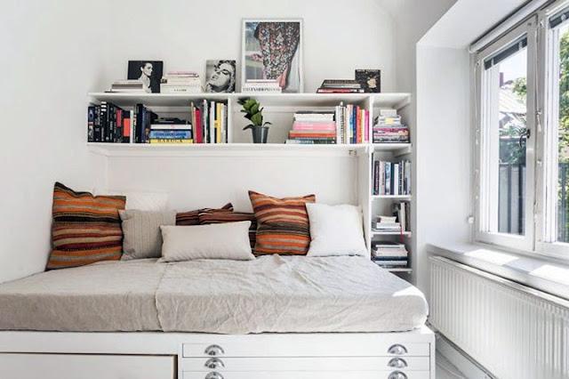 bedroom floating shelf ideas