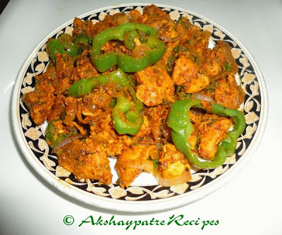Chicken sukke ready to serve