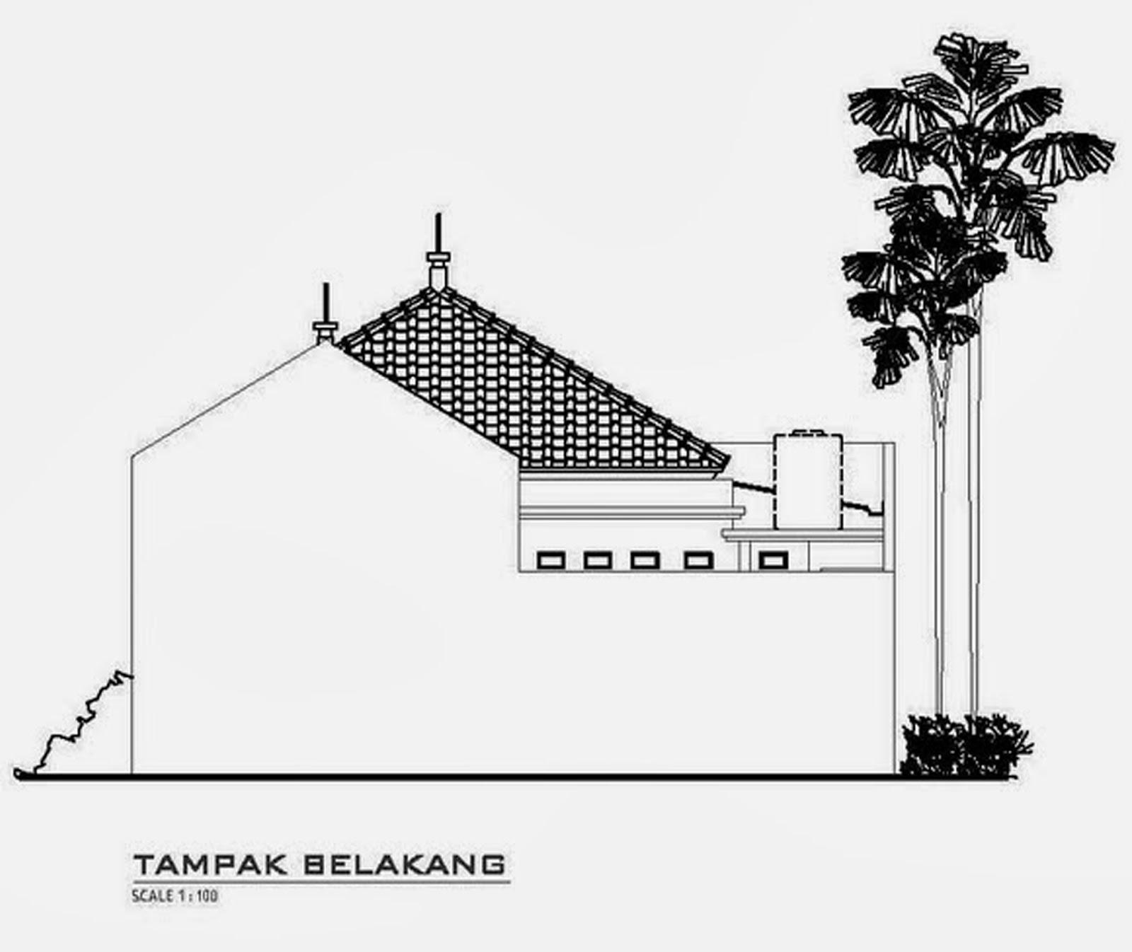 Gambar Rumah 1 Lantai N&ak Belakang