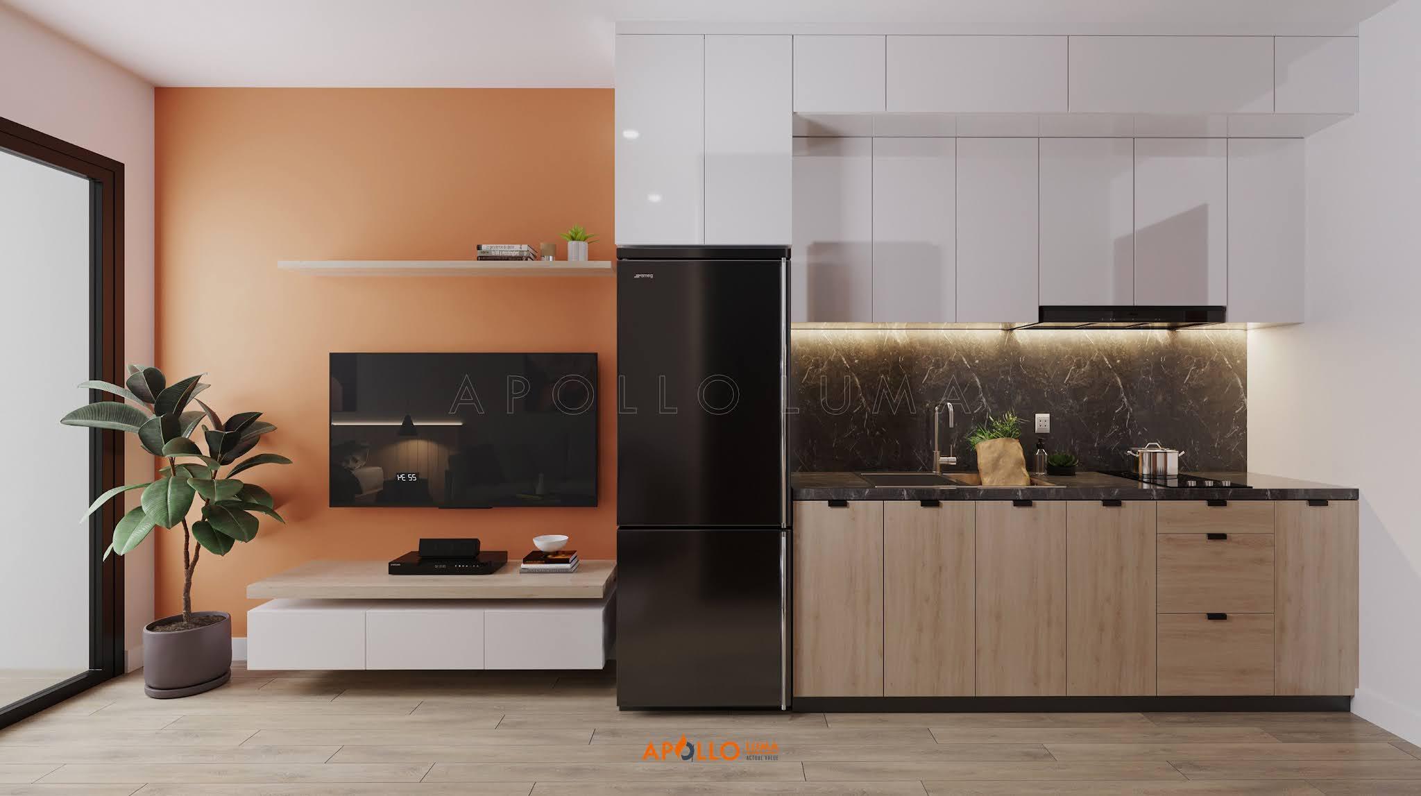 Thiết kế nội thất căn hộ Studio (28m2) S1.02-22 Vinhomes Ocean Park Gia Lâm