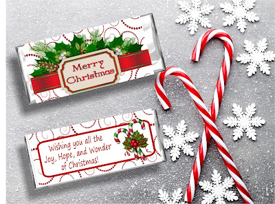 Wish everyone on your Christmas gift list a Merry Christmas with this printable Candy Bar Wrapper. The beautiful, sweet chocolate gift is the perfect Christmas card and Christmas candy in one.