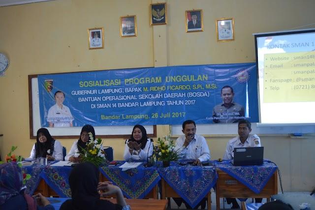 Sosialisasi Program Unggulan dan BOSDA SMA Negeri 14 Bandar Lampung