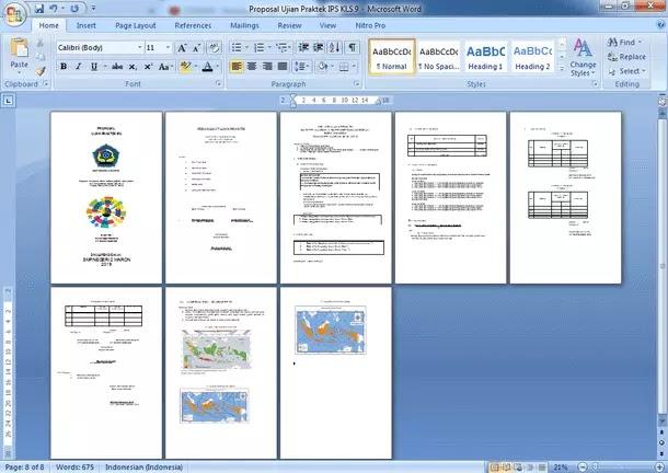 Contoh Proposal Ujian Praktek IPS Kelas 9 SMP