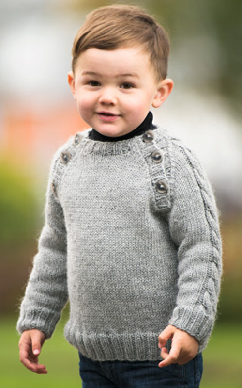 Knitted Boy's Sweater - Free Pattern