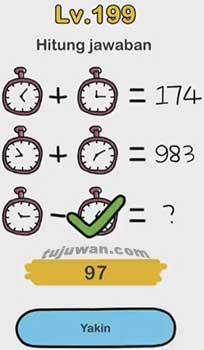 Level 199 Permainan Brain Out Hitung Jawaban