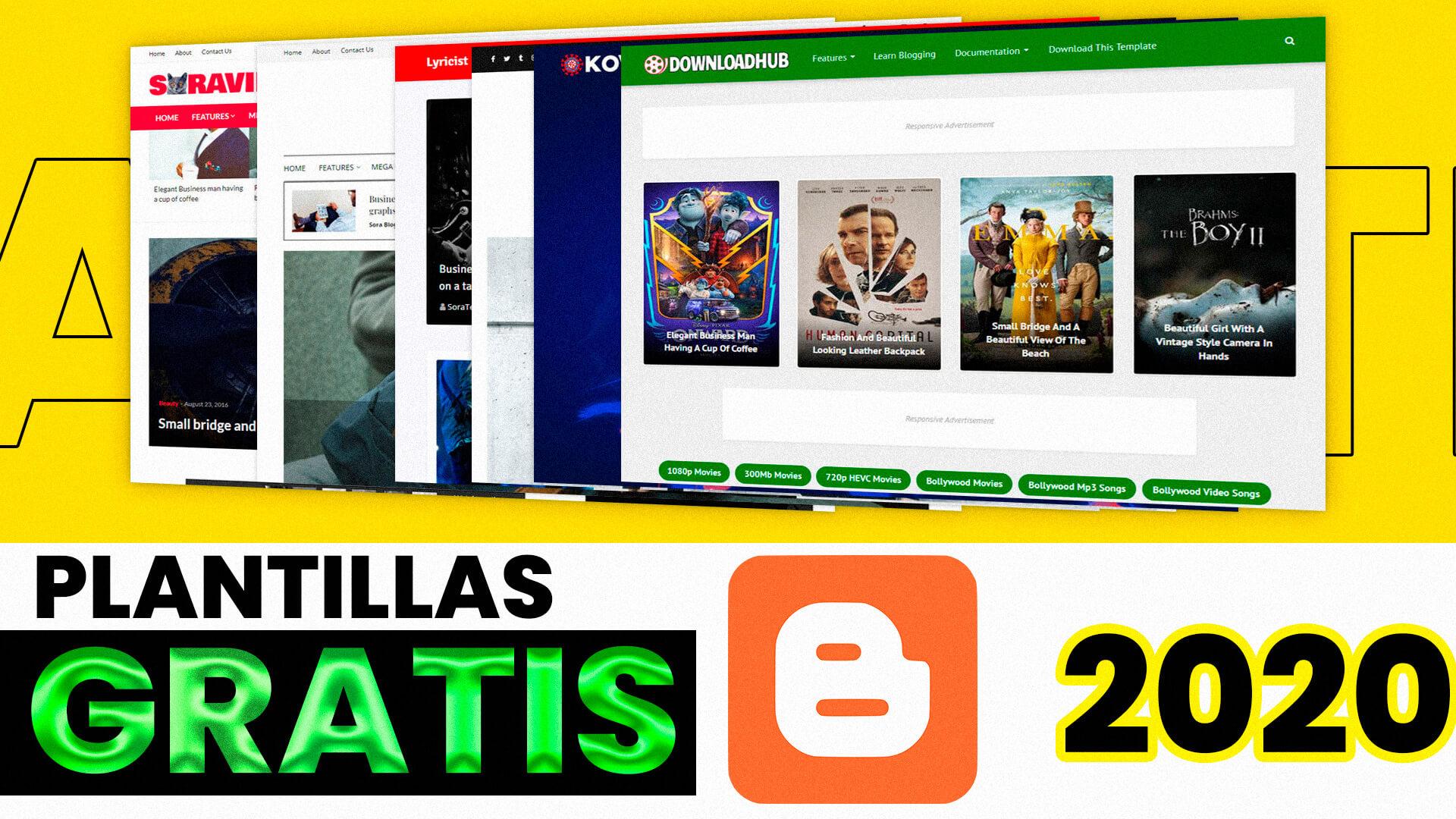 Plantillas GRATIS para Blogger | SEO | RESPONSIVE | EDITABLES 2020