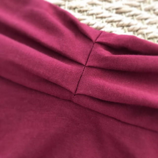 Diary of a Chain Stitcher: Maxi Nina Lee Mayfair Dress in Wine Red Jersey