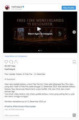 FF maintenance , kapan selesai maintenance ff 11 desember 2019