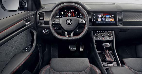 Skoda Kodiaq RS Suv 2020 interior Front Cabin