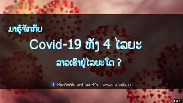ມາຮູ້ຈັກກັບ covid-19 ທັງ 4 ໄລຍະ,  ລາວເຮົາຢູ່ໄລຍະໃດ ?, covid-19, covid laos, laos found covid, spvmedia, spv media, ພະຍາດໂຄວິດ, ໂຄວິດ 19, ໂຄວິດ-19, ທີ່ປຶກສາບັນຫາຊີວິດ ຄອບຄົວ ແລະ ຫົວໃຈ, ທີ່ປຶກສາ, ສາລະໜ້າຮູ້