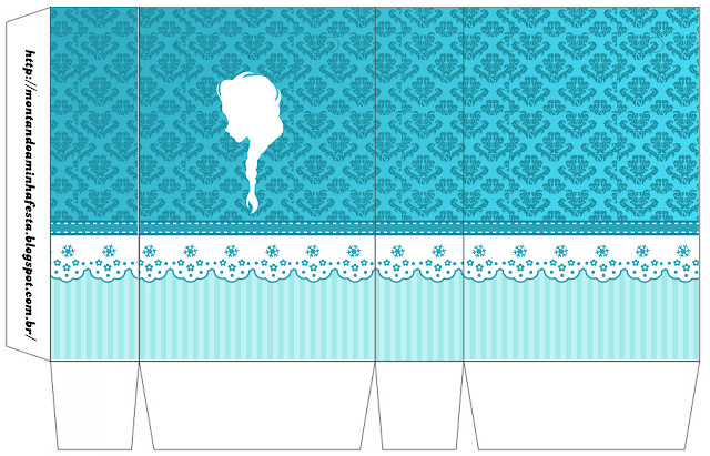 Elsa Silhouette: Free Printable Boxes.