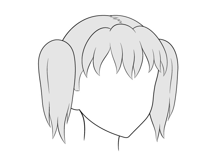 Gambar tampilan kuncir anime 3/4 rambut
