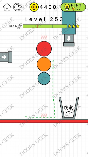 Happy Glass Level 253 Solution, Cheats, Walkthrough 3 Stars for Android and iOS