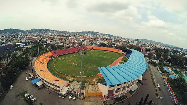 Pesona Foto Udara di Stadion Gor Segiri Samarinda