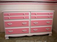 Pink Dresser Makeover