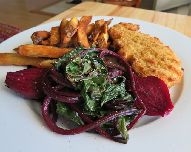 Steamed Baby Beets & Greens