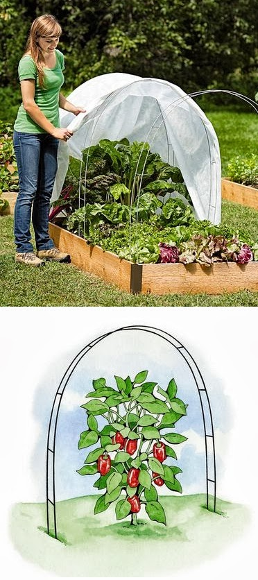 Super Hoops Support Every Type of Garden Fabric and Shade Net