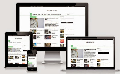 Newspaper Responsive Blogger Template