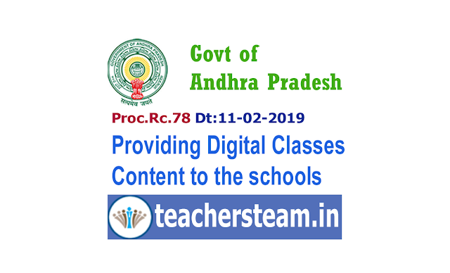 Providing of Digital Content to Schools in Andhra Pradesh