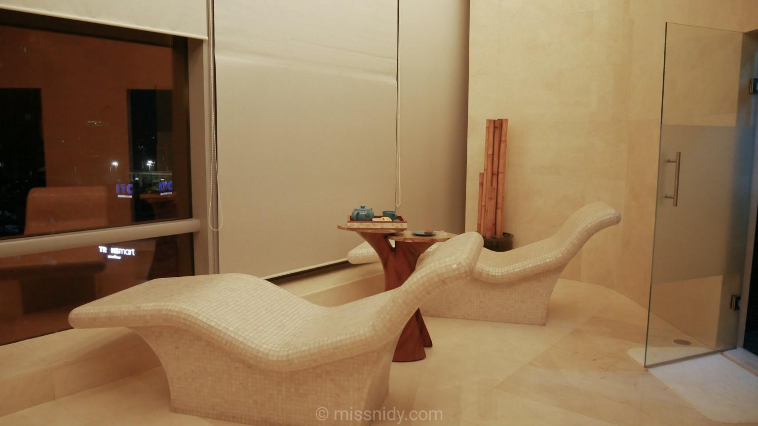 hot stone seat at raffles spa jakarta