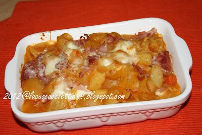 Pasta e patate farcita