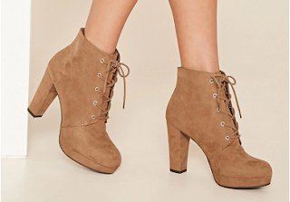 forever21 faux suede platform ankle boot