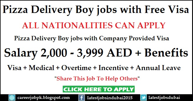 Pizza Delivery Boy jobs in Abu Dhabi