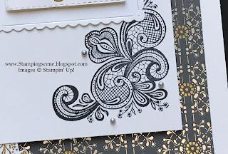 art deco card using stampin up  elegantly said stamp set