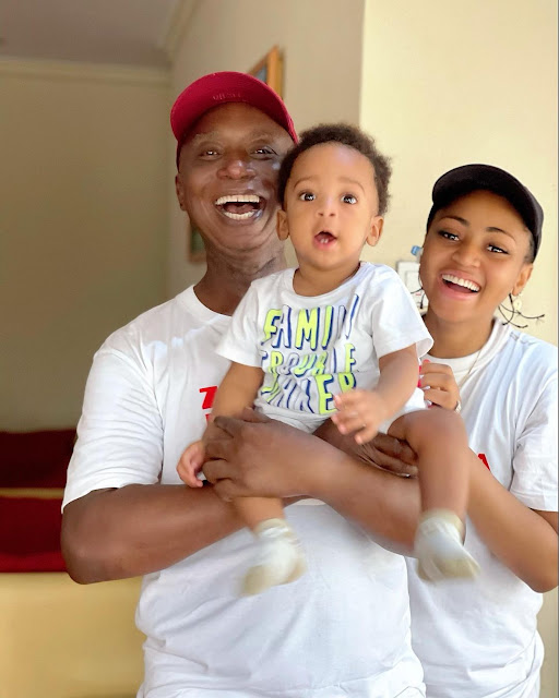 See the Lovely Pictures of Regina daniels with her Husband, Ned Nwoko and their son Munir (photos)