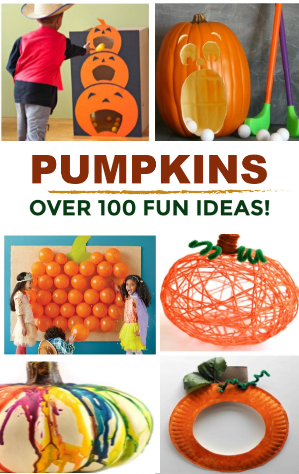 TONS of pumpkin activities for kids including crafts, games, play recipes, science experiments, and more! #pumpkincrafts #pumpkincraftspreschool #pumpkindecoratingideasforkids #pumpkinideasforhalloween #pumpkinplaydough #pumpkincrafts #pumpkincraftspreschool #pumpkinactivities #pumpkinrecipeseasy #fallactivities #fallcrafts #growingajeweledrose #activitiesforkids