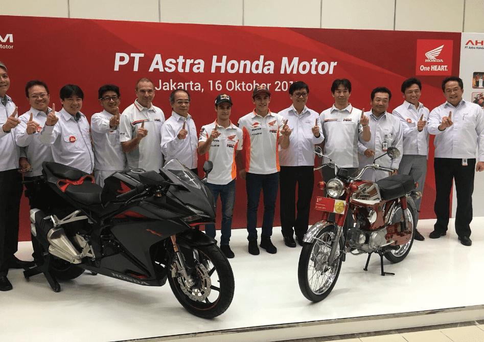Marquez dan Pedrosa sudah tiba di Indonesia, hari ini Honda New CRF150L akan launching ?