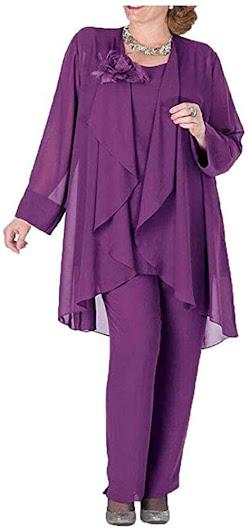Purple Pants Suit for Mother of The Bride Dresses