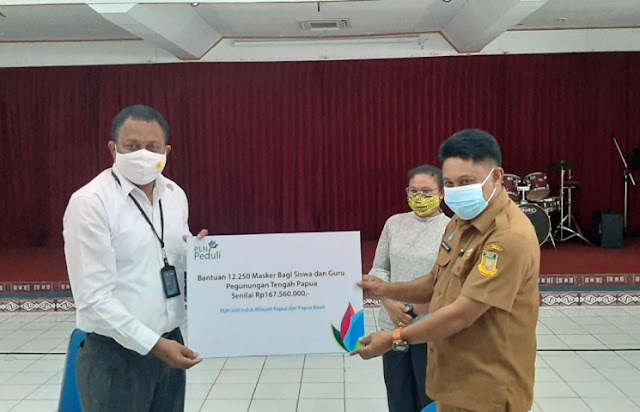PLN Berikan Bantuan 12.250 Masker ke Siswa dan Pengajar di Pegunungan Tengah Papua.lelemuku.com.jpg