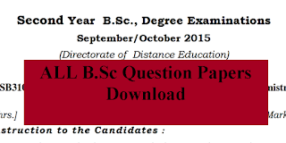 2nd year B.sc Question Papers
