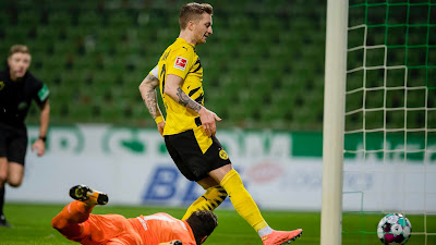 ملخص واهداف مباراة بوروسيا دورتموند وفيردر بريمن (2-1) الدوري الالماني