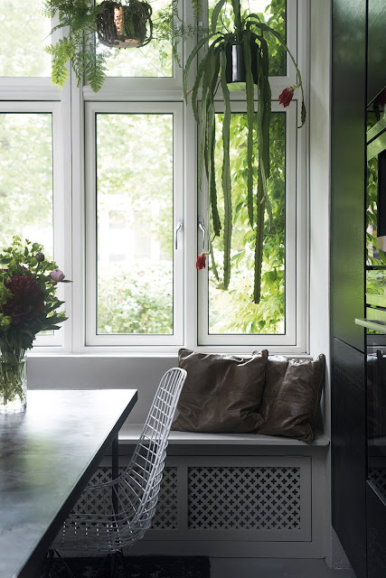 Add some greenery with hanging plants- design addict mom