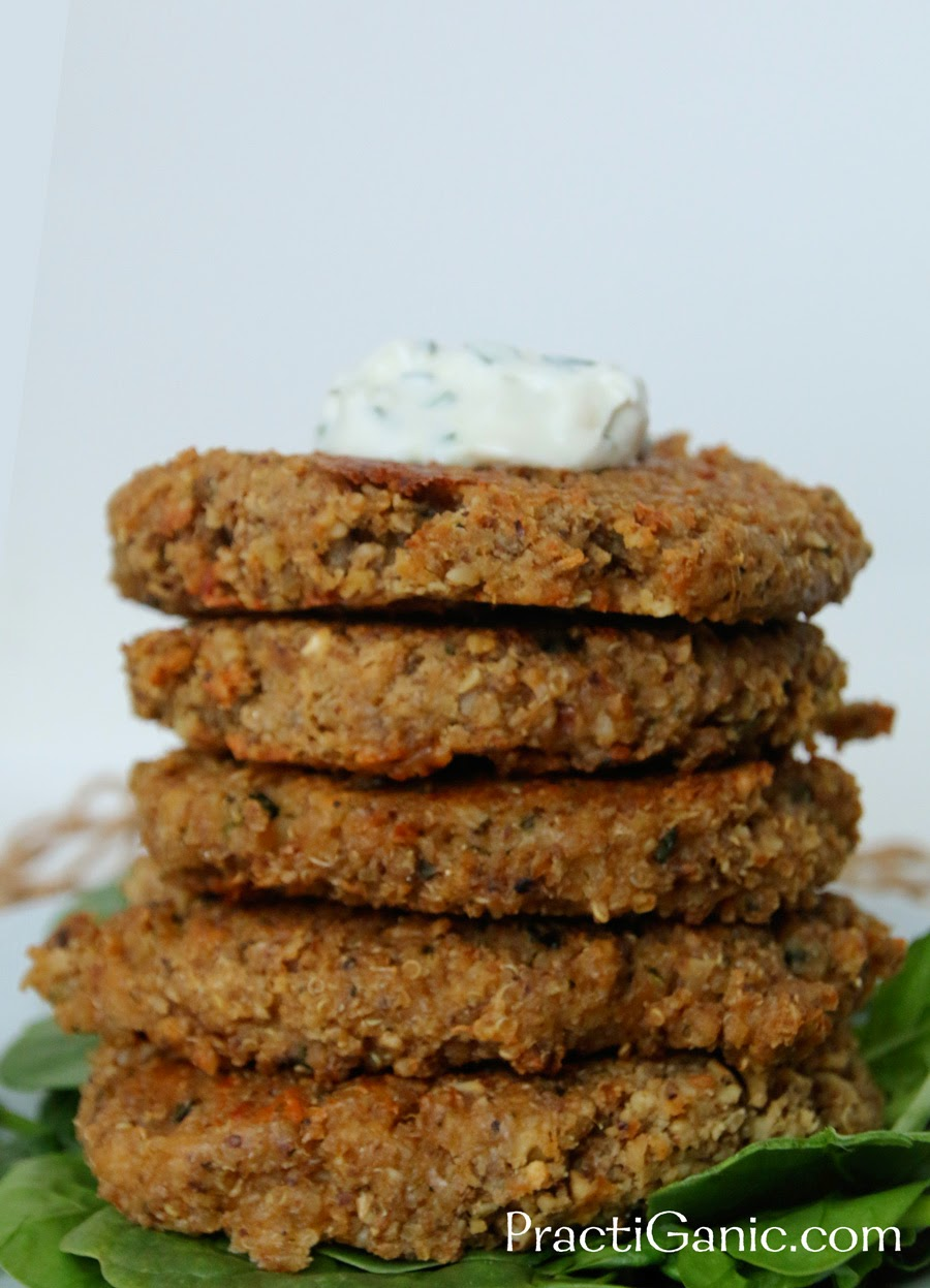 Zucchini Quinoa Burgers with Lemon Garlic Aioli