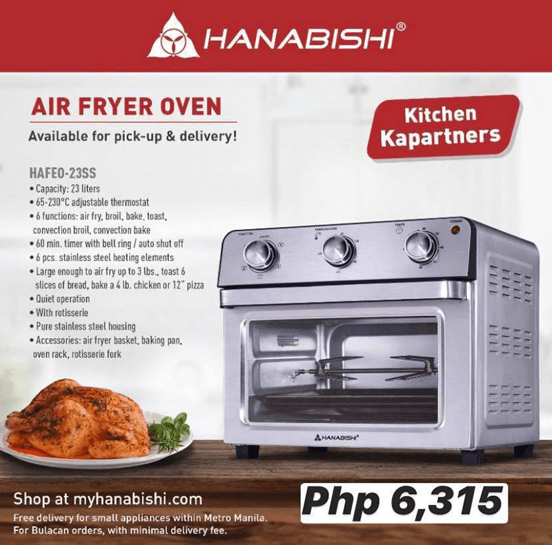 Features of the Air Fryer HAFEO 23SS