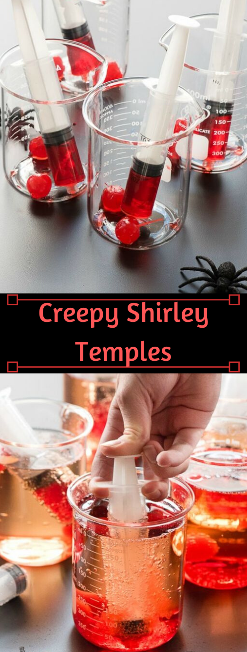 CREEPY SHIRLEY TEMPLE DRINK RECIPE #recipes #drink #party #cocktail #sangria