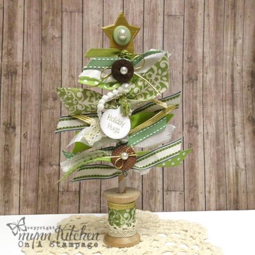 Christmas Trees Ribbon: On A Stampage...: Ribbon Christmas Tree