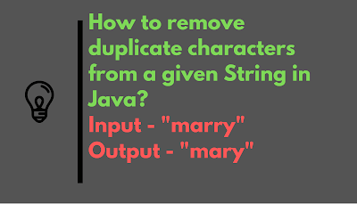 How do you Remove Duplicate characters from String in Java? [Solved]