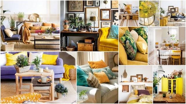 35+ Ξεχωριστοί συνδυασμοί για να χρησιμοποιήσετε το Κίτρινο στην διακόσμηση του σπιτιού