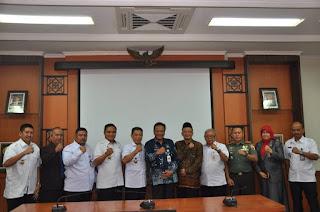 Sebanyak 6 Orang Petinggi Dari Sekretariat Jenderal Dewan Ketahanan Nasional Mengunjungi Pemkab Gresik